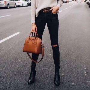 Clarks Leather Black Zip Up Bootie